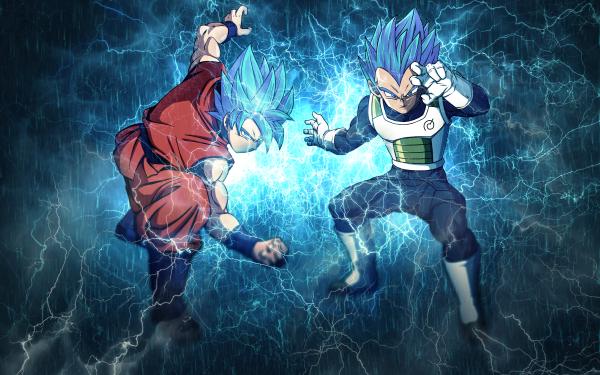 Anime Dragon Ball Super Dragon Ball Goku Vegeta Super Saiyan HD Wallpaper | Background Image