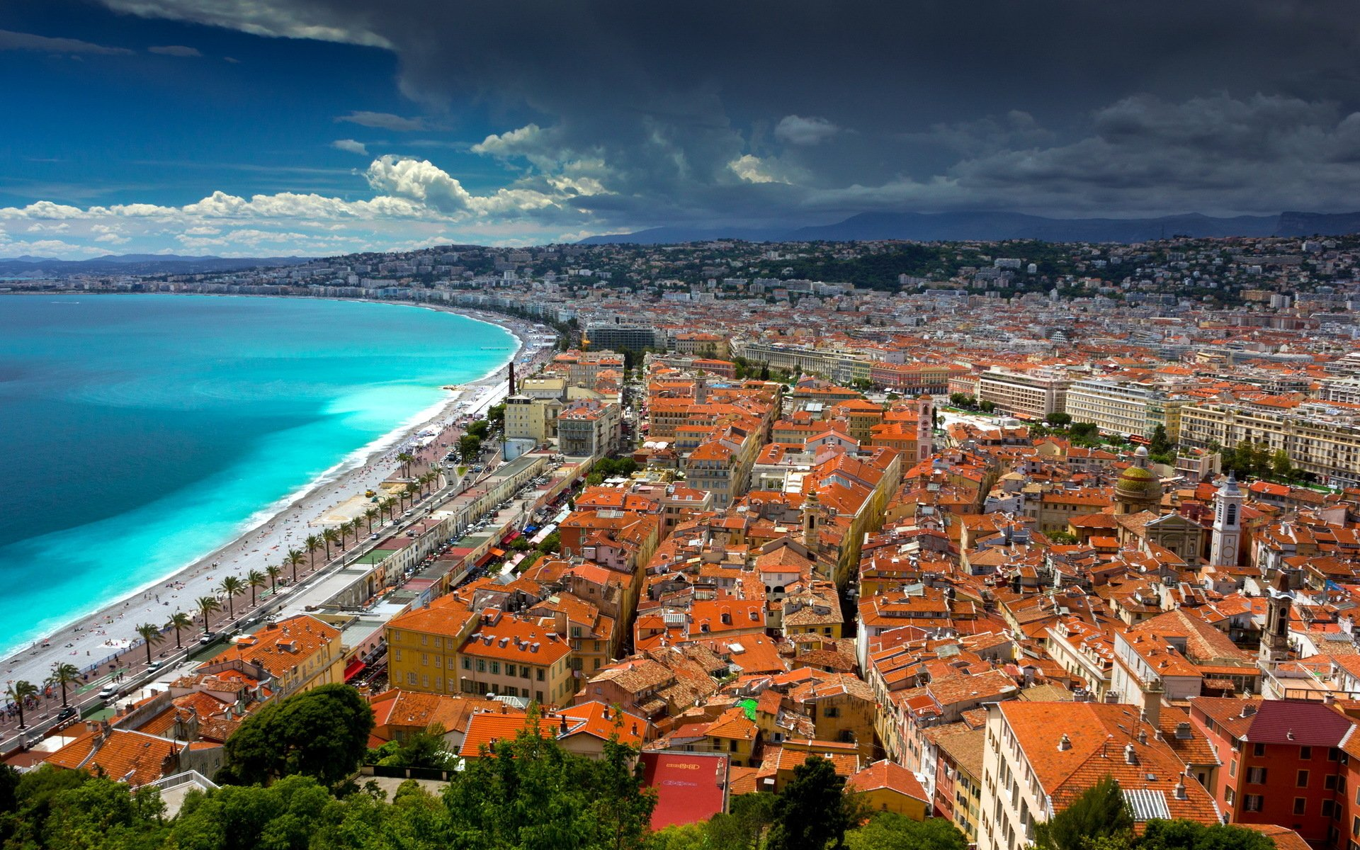 Nice, France Papel de Parede HD | Plano de Fundo | 1920x1200 | ID:719292 - Wallpaper Abyss