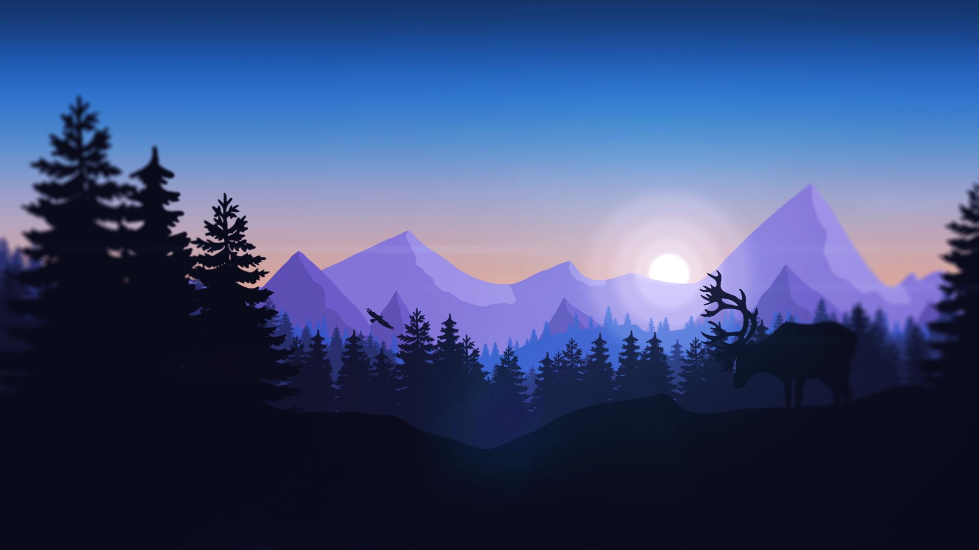 Minimalism Mountain Peak Full Hd Wallpaper: Mountain HD Wallpaper