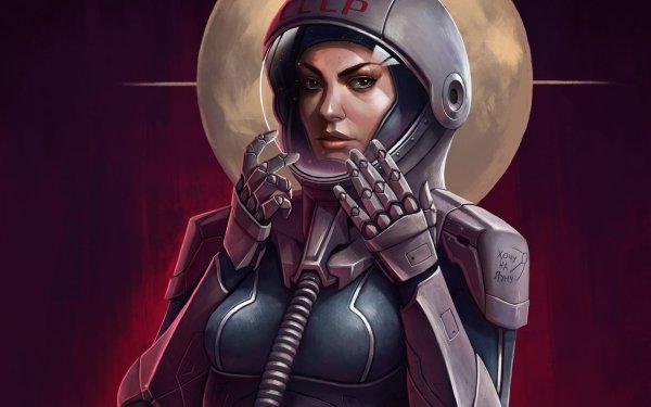 Sci Fi Astronaut Space Suit HD Wallpaper | Background Image