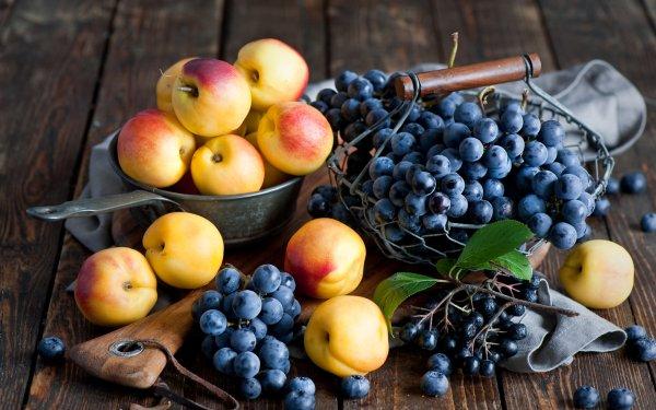 Food Fruit Fruits Grapes Nectarine HD Wallpaper   Background Image