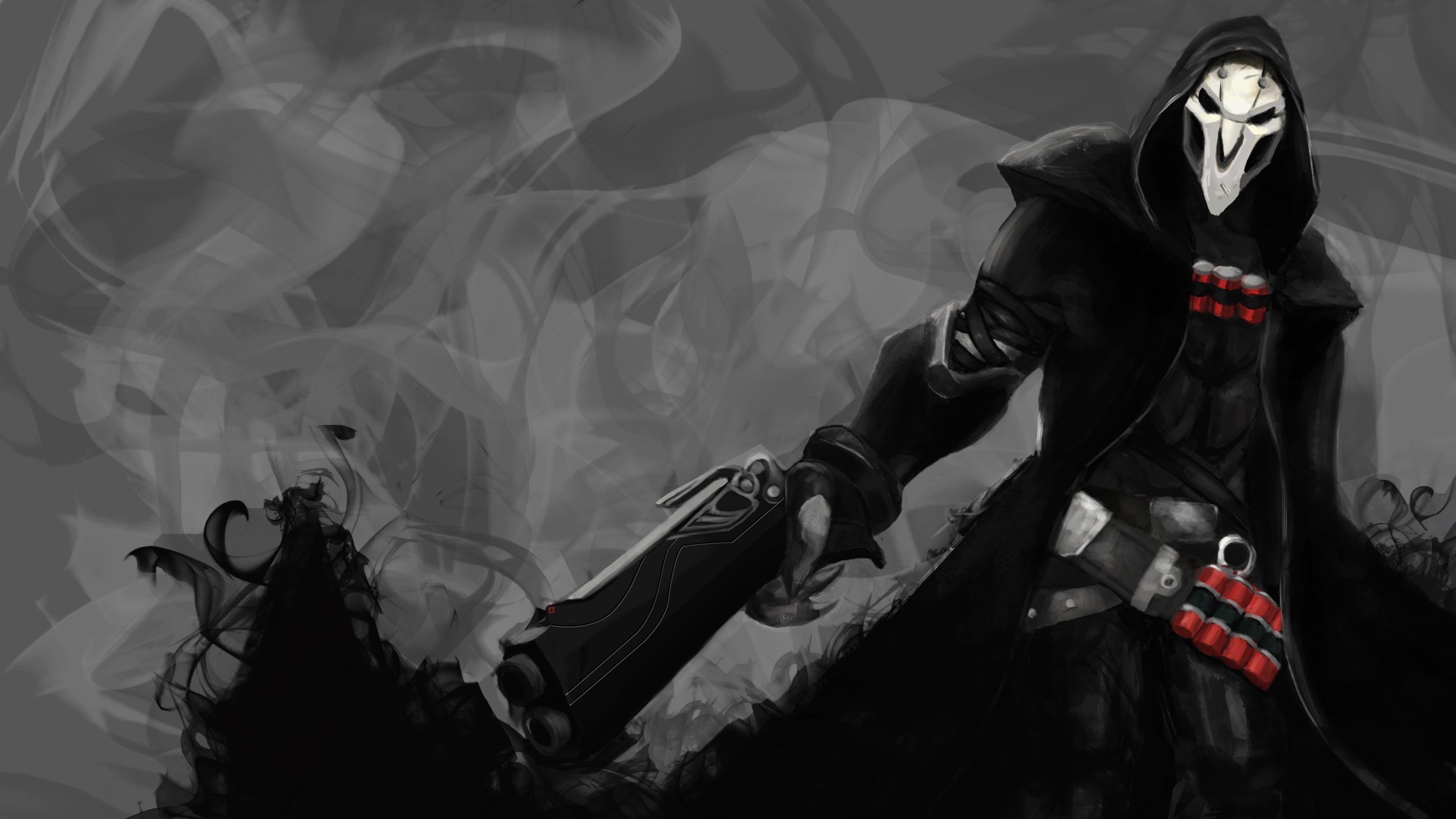 3D Overwatch Reaper Wallpaper Render   3D &- Programming: Cameron ...