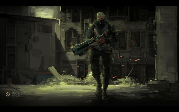 Video Game Overwatch Soldier: 76 HD Wallpaper | Background Image