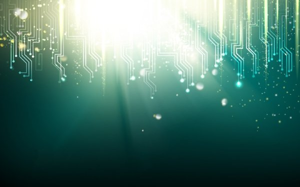 Abstract Futuristic Green Circuit HD Wallpaper | Background Image