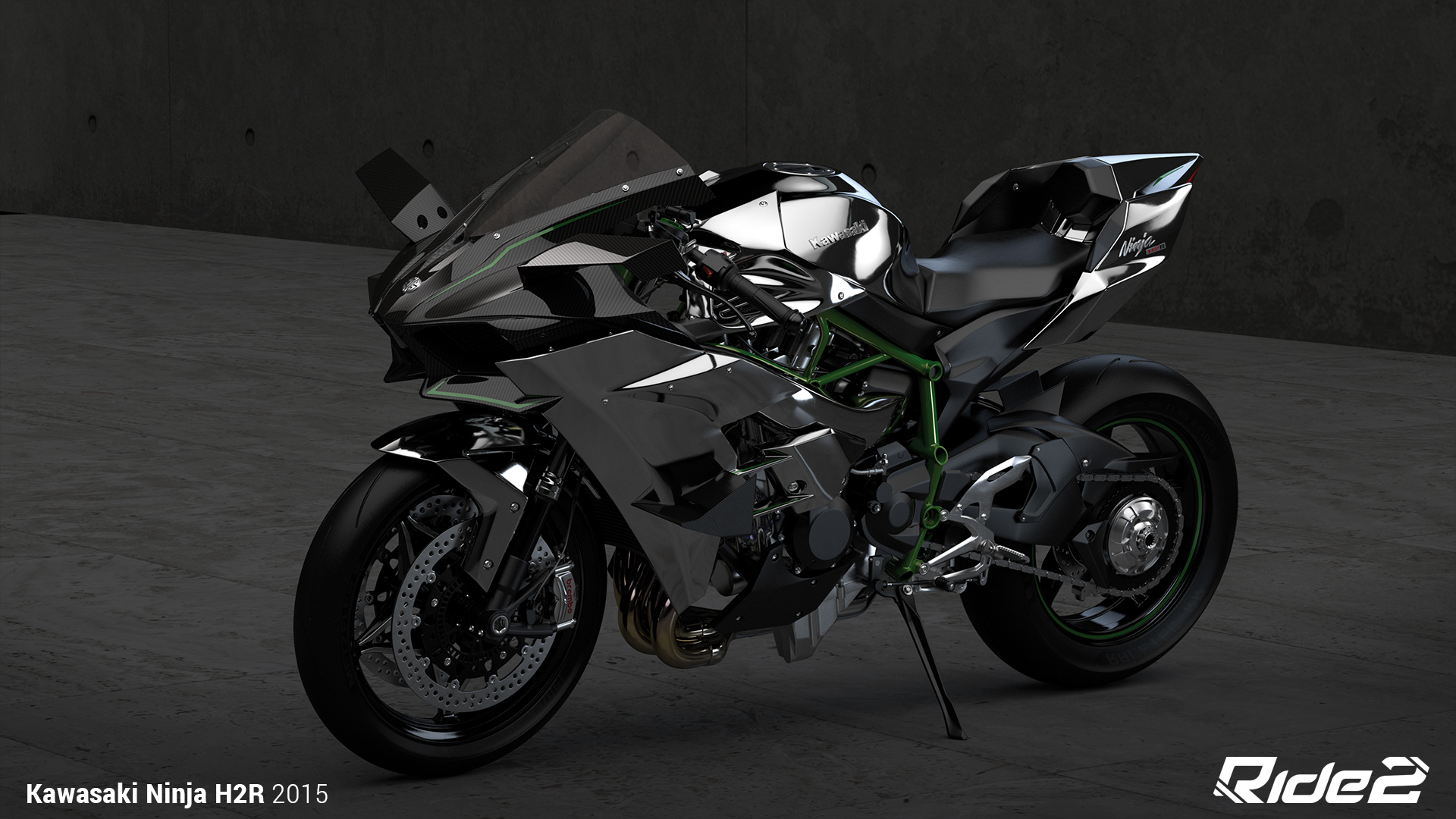 2015 Kawasaki Ninja H2R Full HD Wallpaper And Background Image