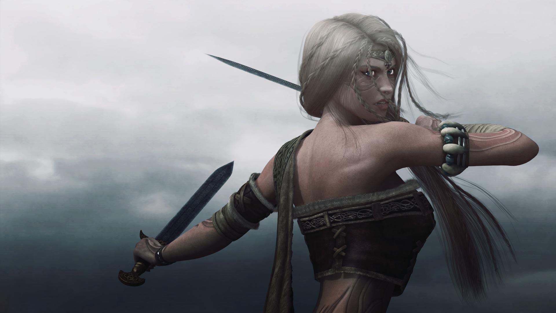 Fantasy woman warrior full hd wallpaper and background image fantasy women warrior fantasy woman girl warrior dagger wallpaper voltagebd Images