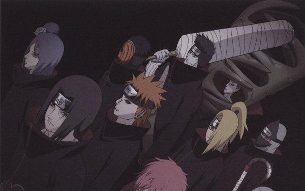 Anime Naruto Pain Konan Obito Uchiha Kisame Hoshigaki Zetsu Deidara Sasori Akatsuki Fond d'écran HD   Image