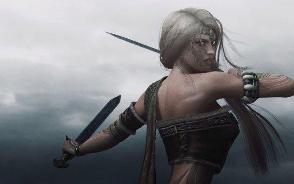 Fantasía Mujeres Guerrera Guerrero Dagger Fondo de pantalla HD | Fondo de Escritorio
