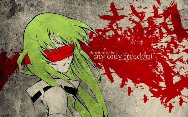 Anime Code Geass Green Hair Sad C.C. Fond d'écran HD | Arrière-Plan