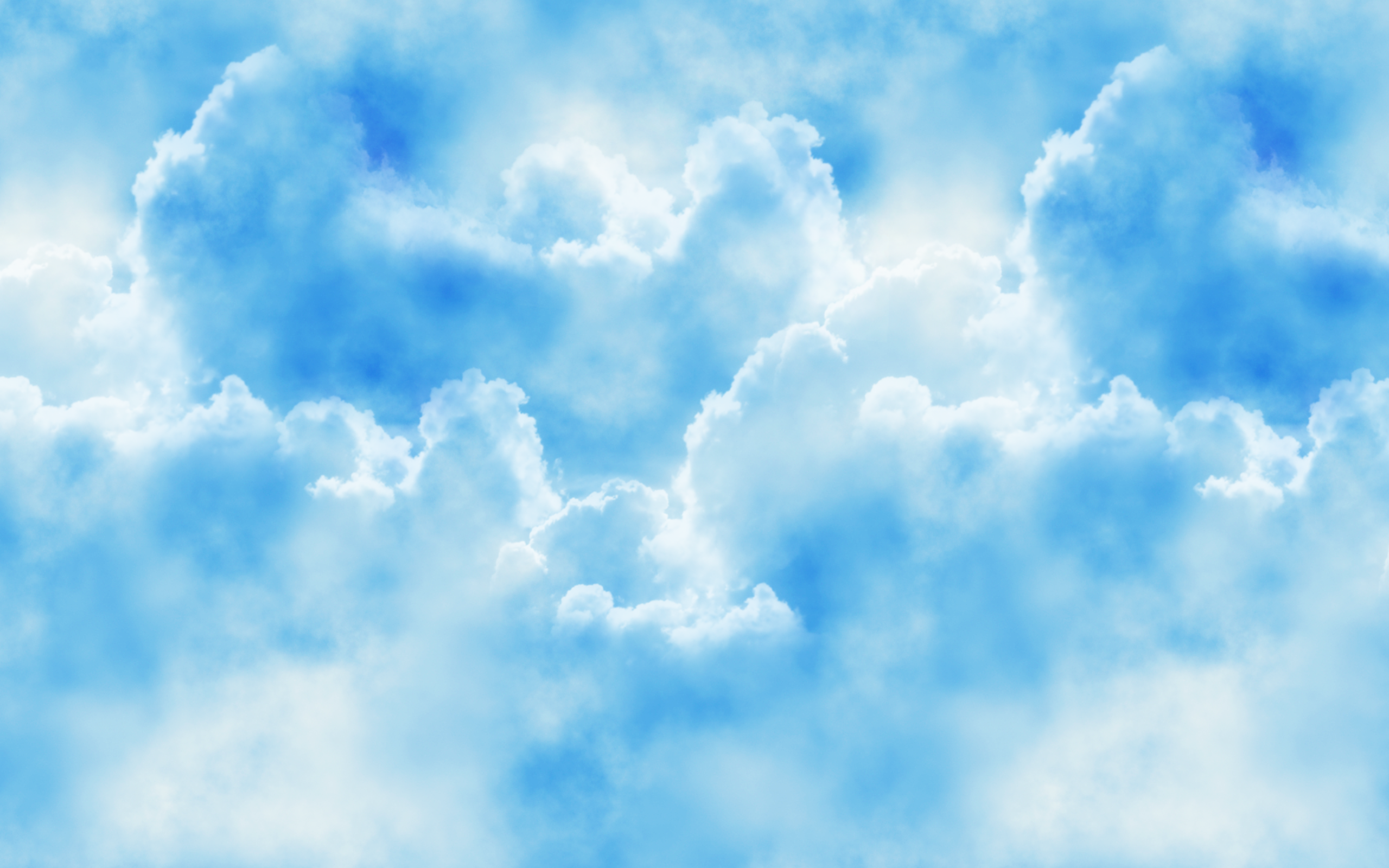 White Clouds In Blue Sky Hd Wallpaper Background Image