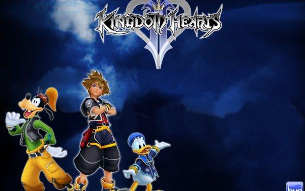 Video Game Kingdom Hearts Sora Donald Duck Goofy HD Wallpaper | Background Image