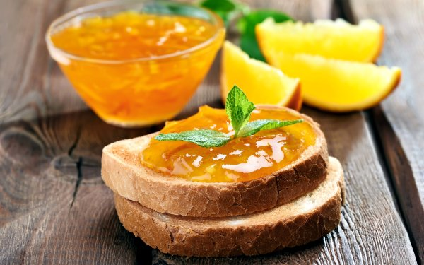 Food Jam Bread orange HD Wallpaper | Background Image