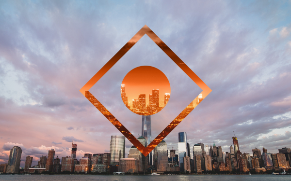 Artistic Polyscape City Sunset Urban HD Wallpaper | Background Image