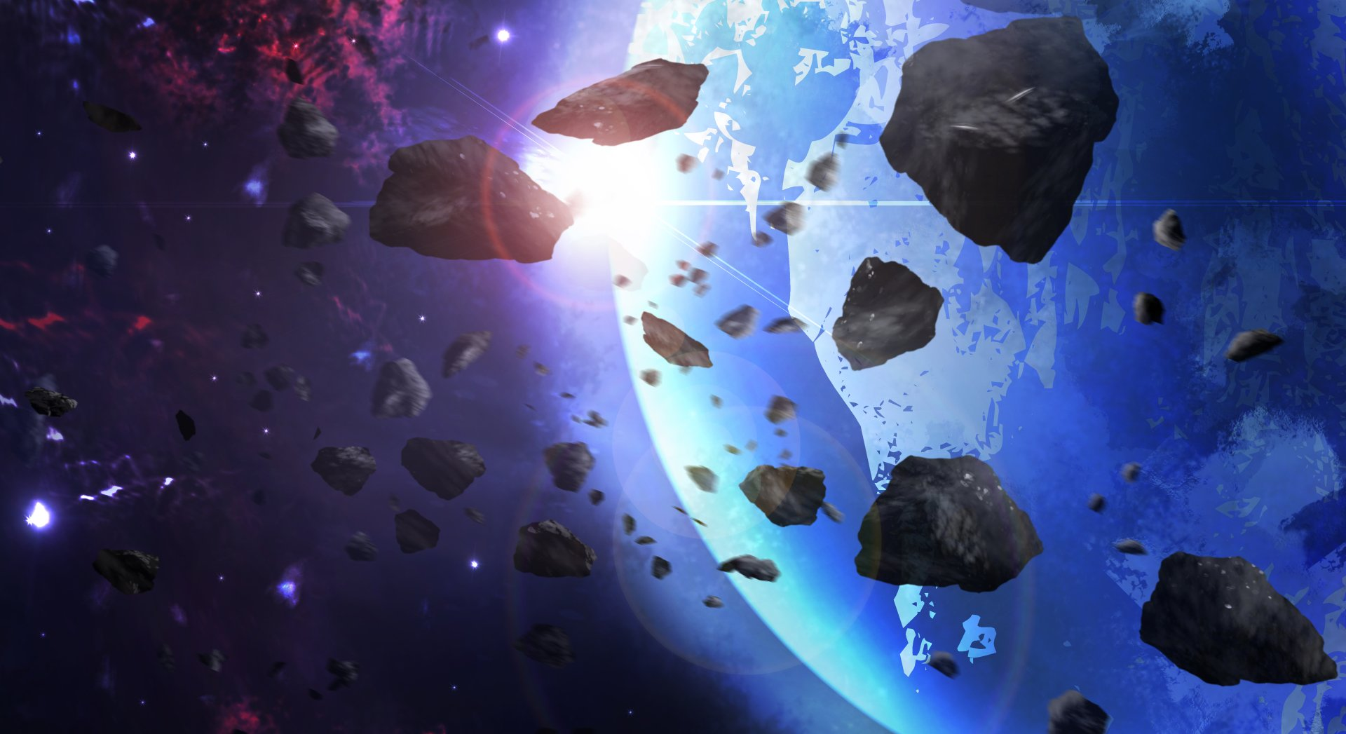 Artistic - Space  Asteroid Earth Artistic Wallpaper