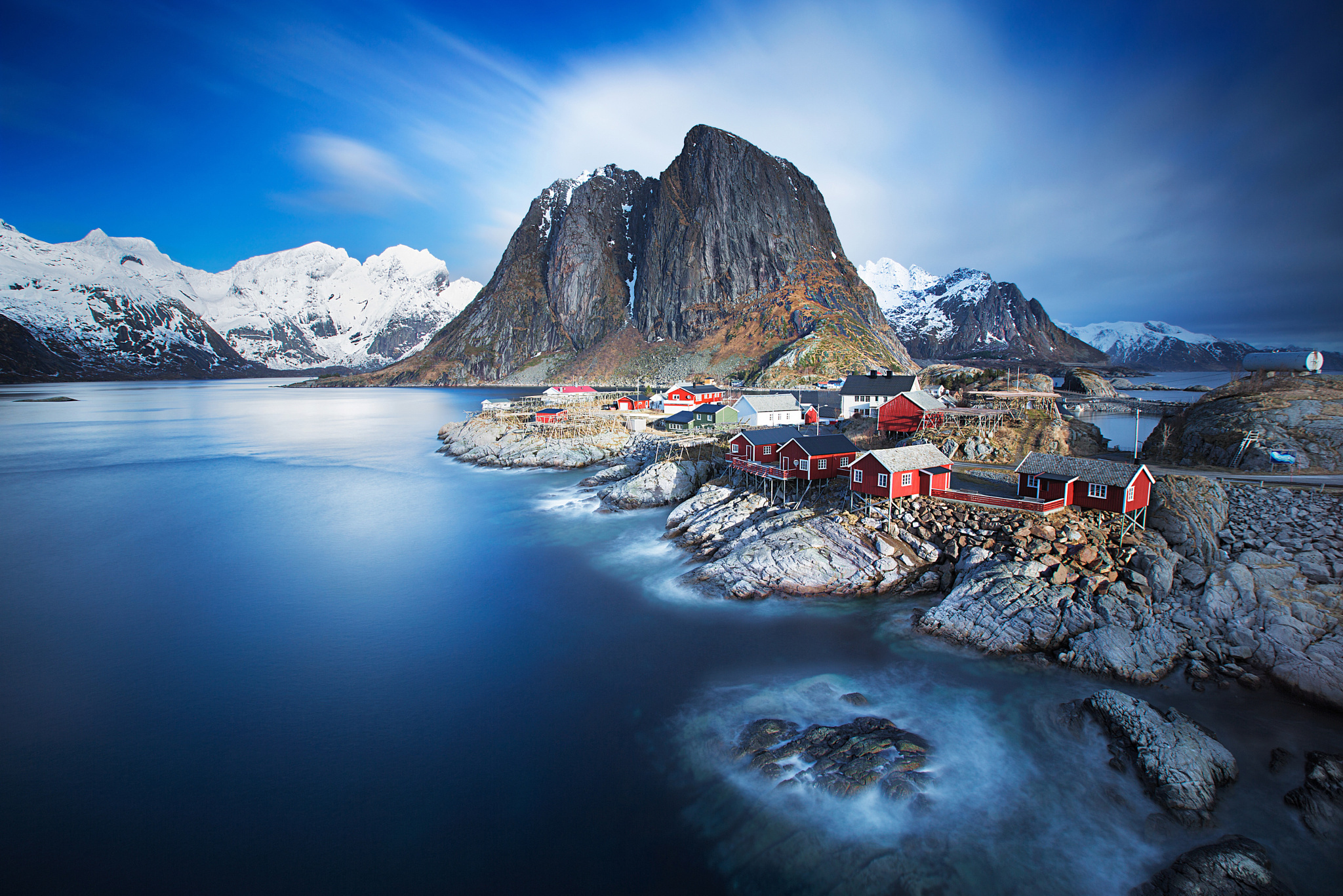 Small Village In Lofoten Norway Full HD Wallpaper And Background