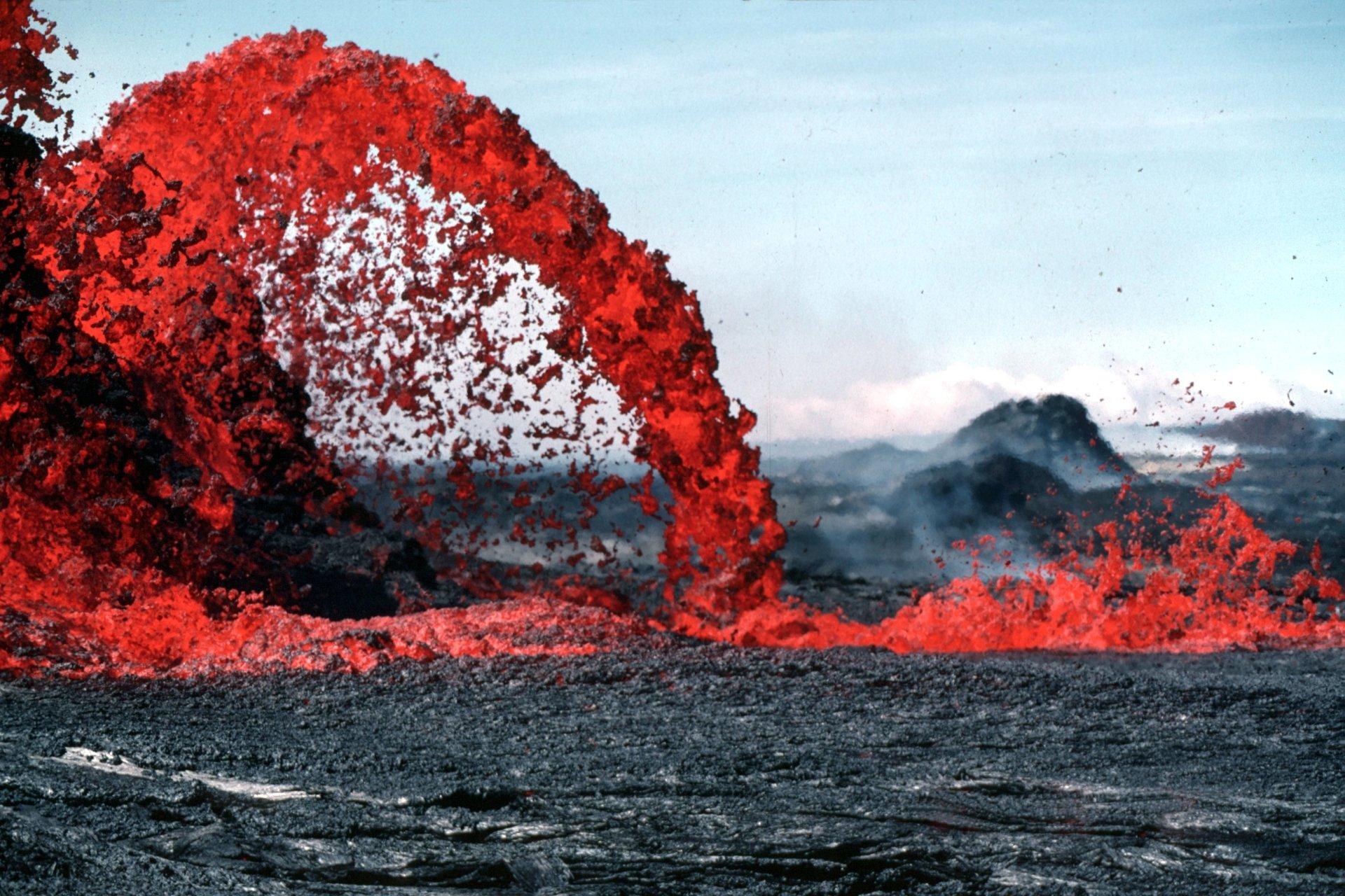 Jorden/Natur - Vulkan  Lava Bakgrund