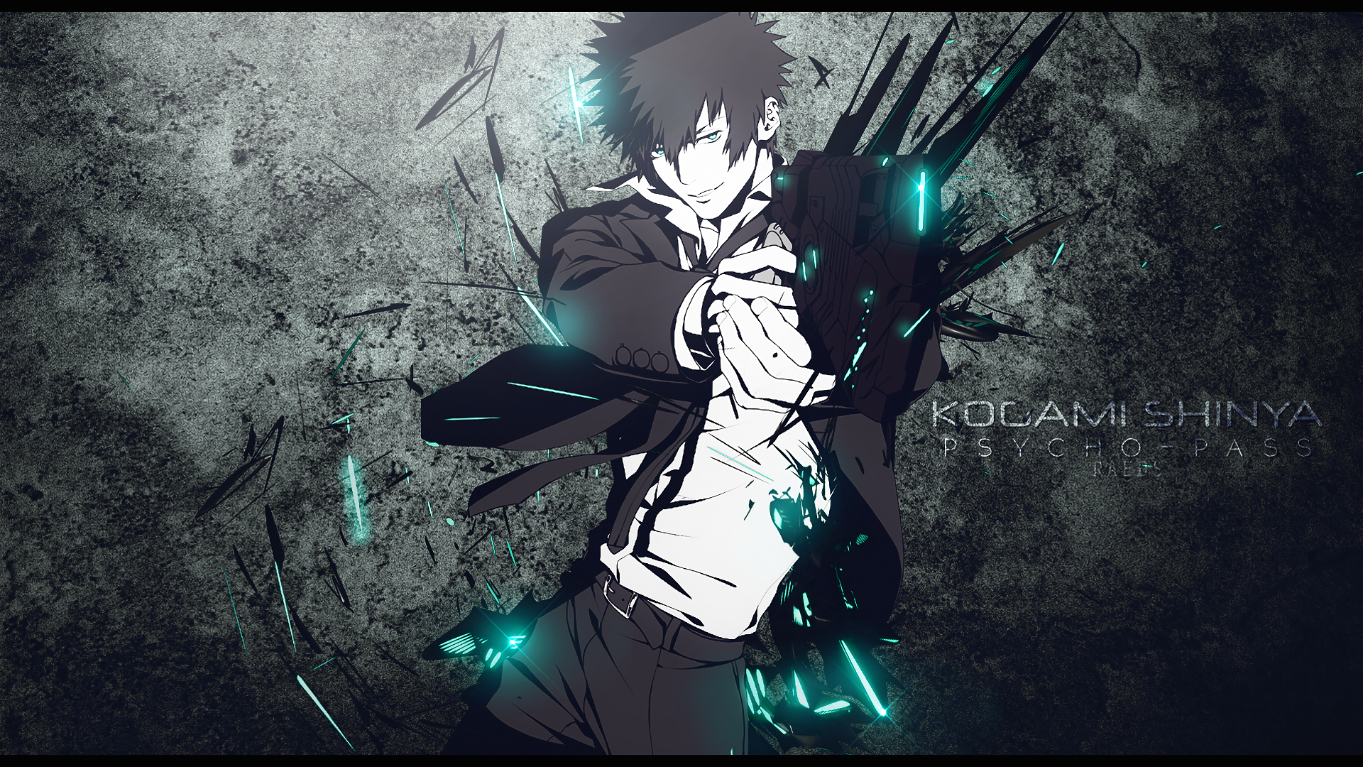 Shinya Kogami With His Dominator Hd Wallpaper Background Image