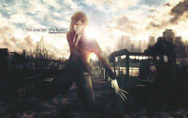 Anime Black Butler Sebastian Michaelis HD Wallpaper | Background Image