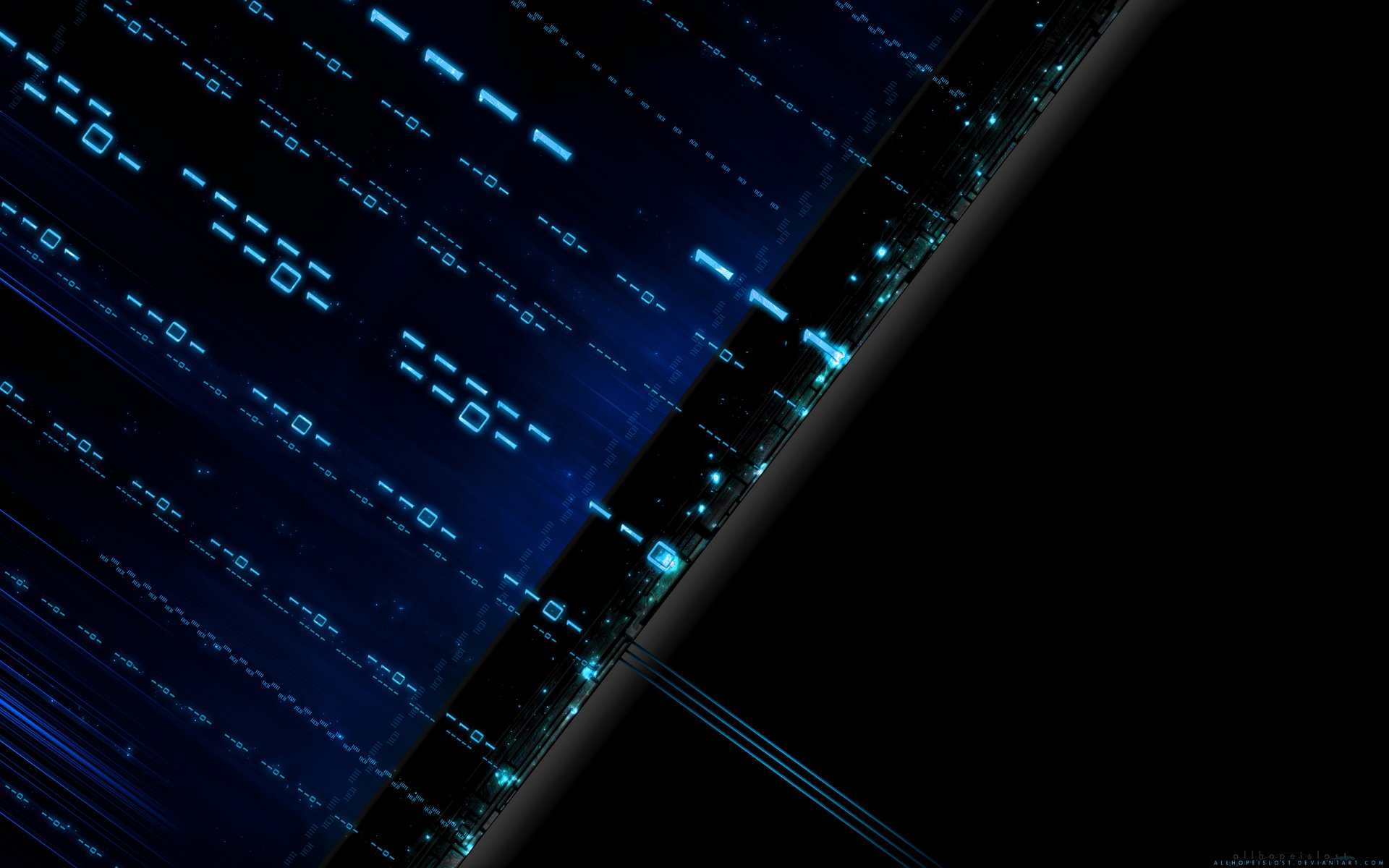 Technology - Binary  Technology Wallpaper