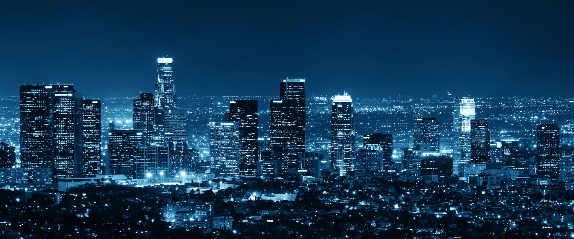 Man Made - Los Angeles  USA City Night Cityscape Horizon Building Skyscraper Wallpaper