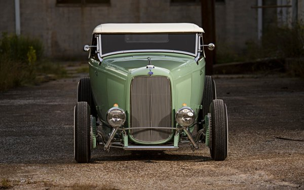 Vehicles Ford Roadster Ford 1932 Ford Roadster Hot Rod Vintage Car HD Wallpaper | Background Image