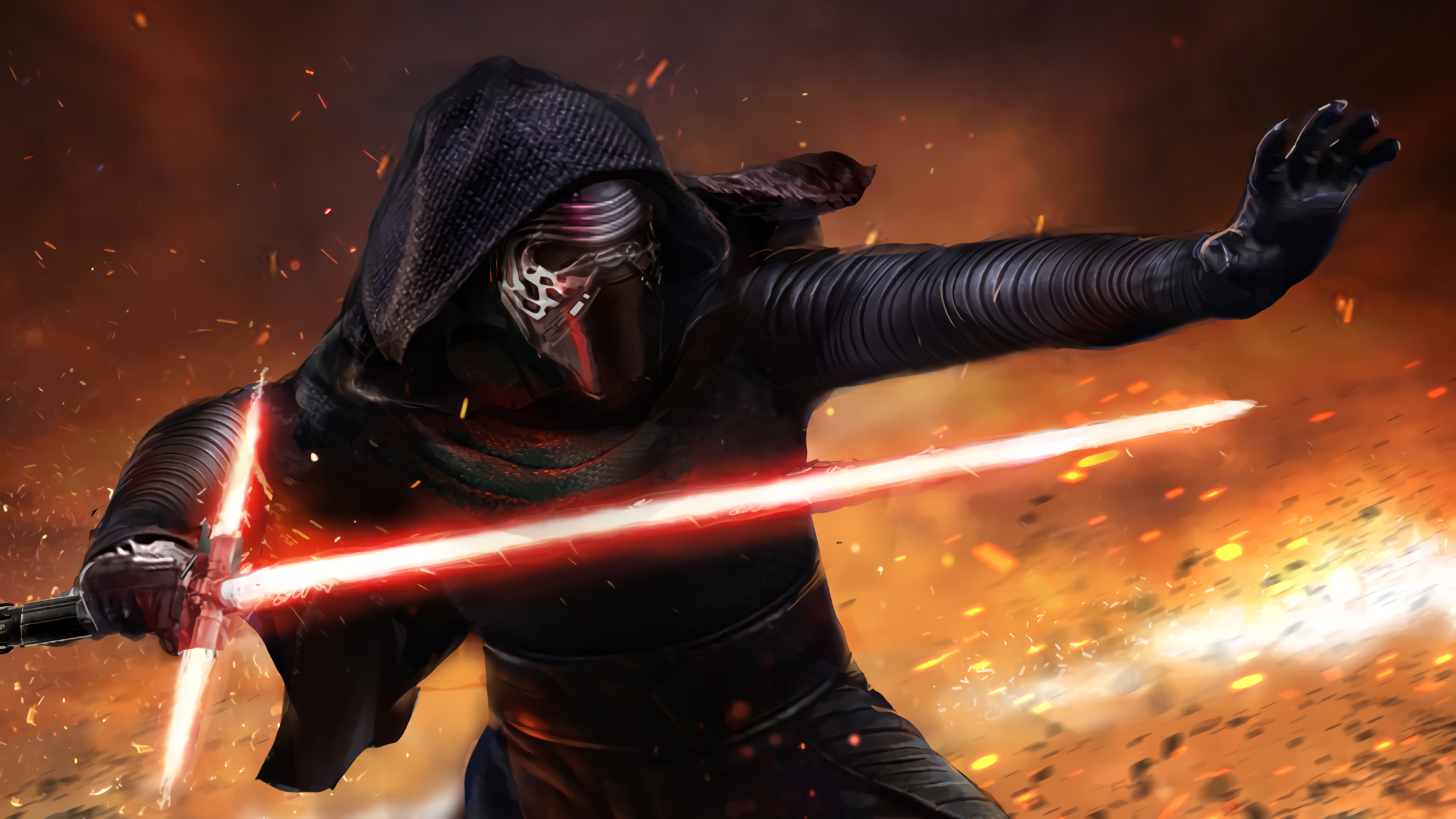 Star Wars Episode Vii The Force Awakens Hd Wallpaper Background Image 2400x1350 Id 742530 Wallpaper Abyss