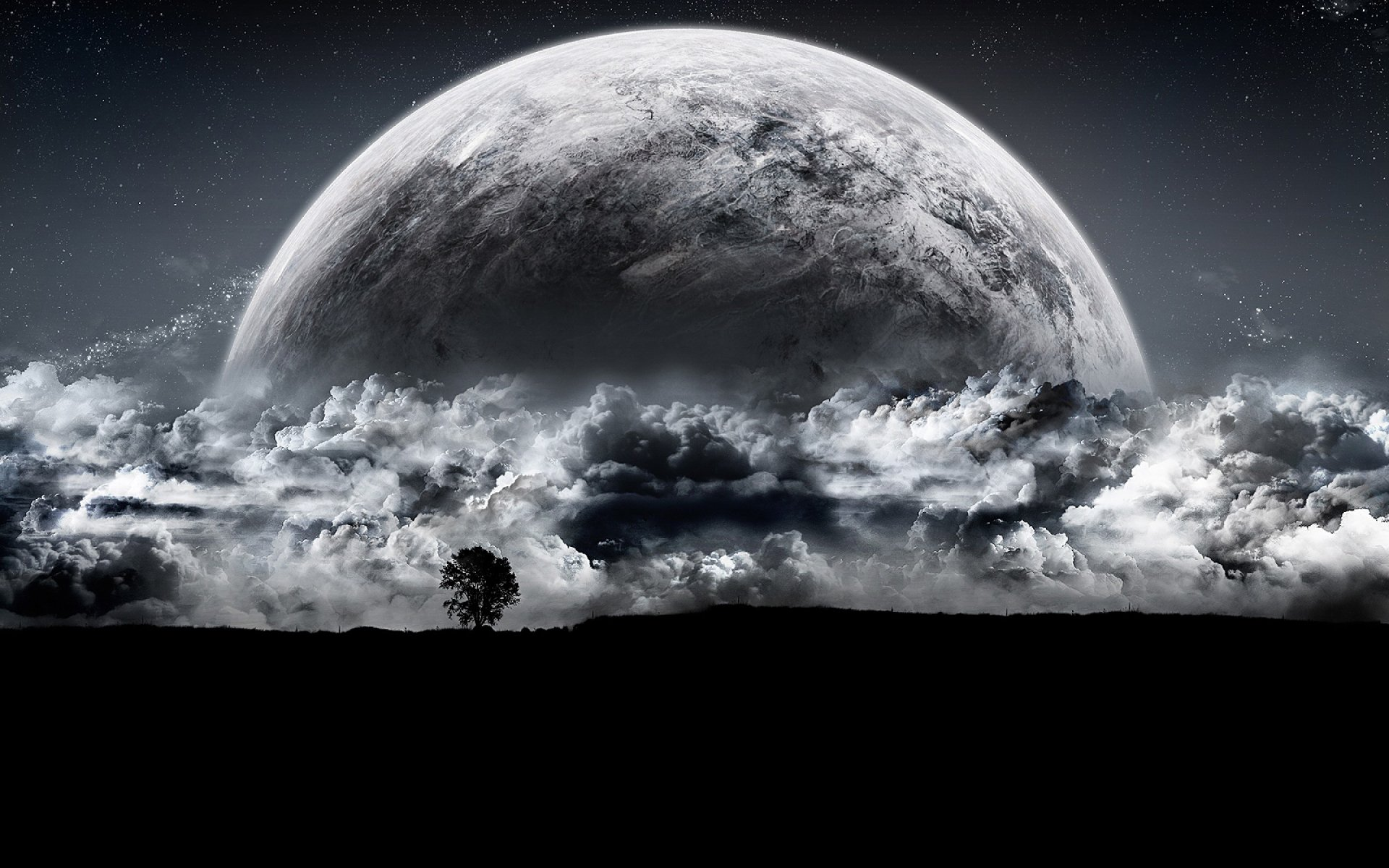 Hd Wallpaper Planet Moon