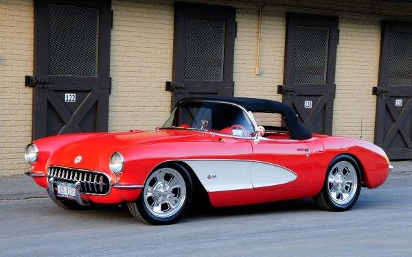 Vehicles Chevrolet Corvette Chevrolet Corvette 1957 Chevrolet Corvette Muscle Car HD Wallpaper | Background Image