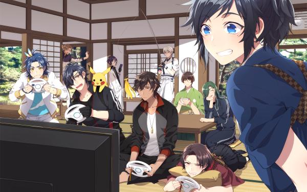 Anime Crossover Touken Ranbu: Hanamaru HD Wallpaper   Background Image