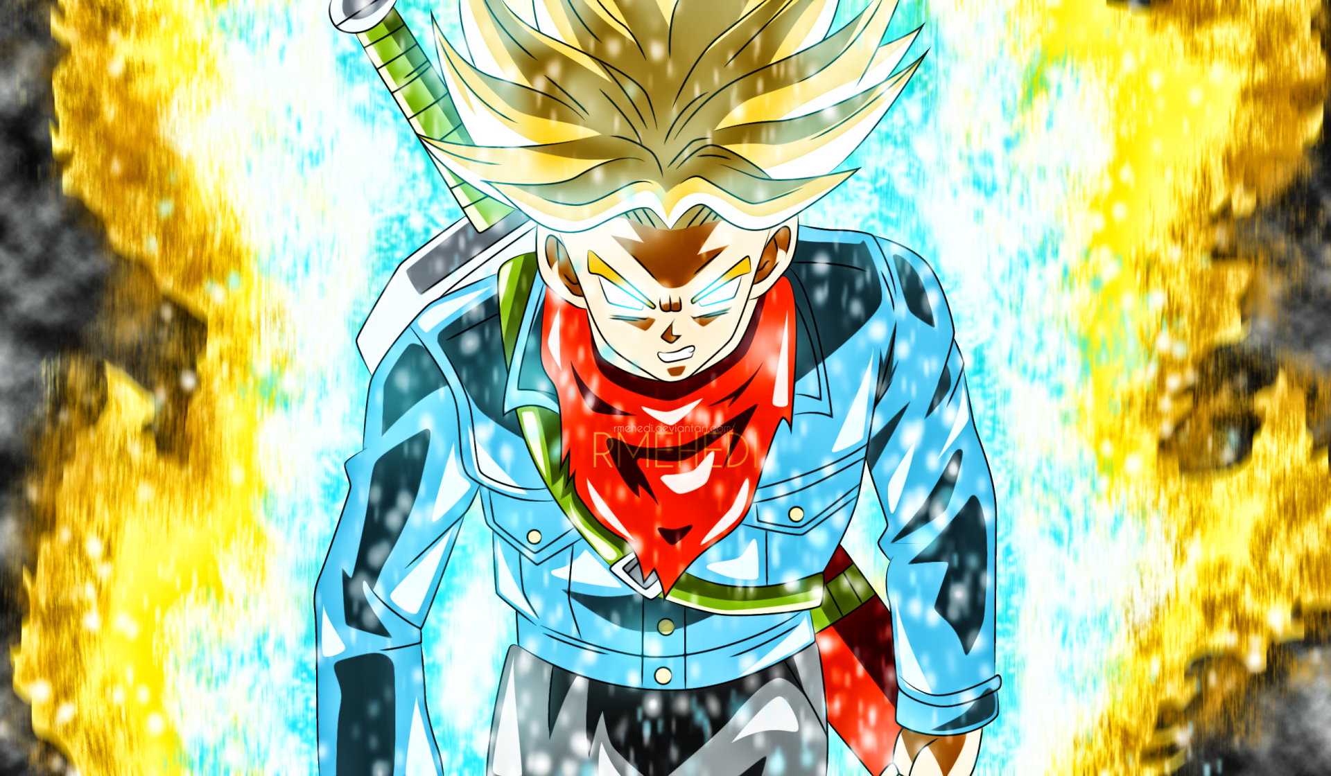 Anime - Dragon Ball Super  Trunks (Dragon Ball) Dragon Ball Super Saiyan Rage Wallpaper