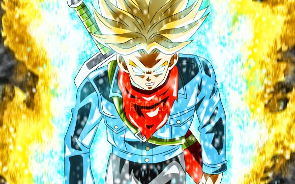 Anime Dragon Ball Super Dragon Ball Trunks Super Saiyan Rage HD Wallpaper | Background Image