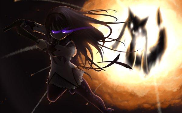 Anime Puella Magi Madoka Magica Homura Akemi Kyuubey HD Wallpaper | Background Image