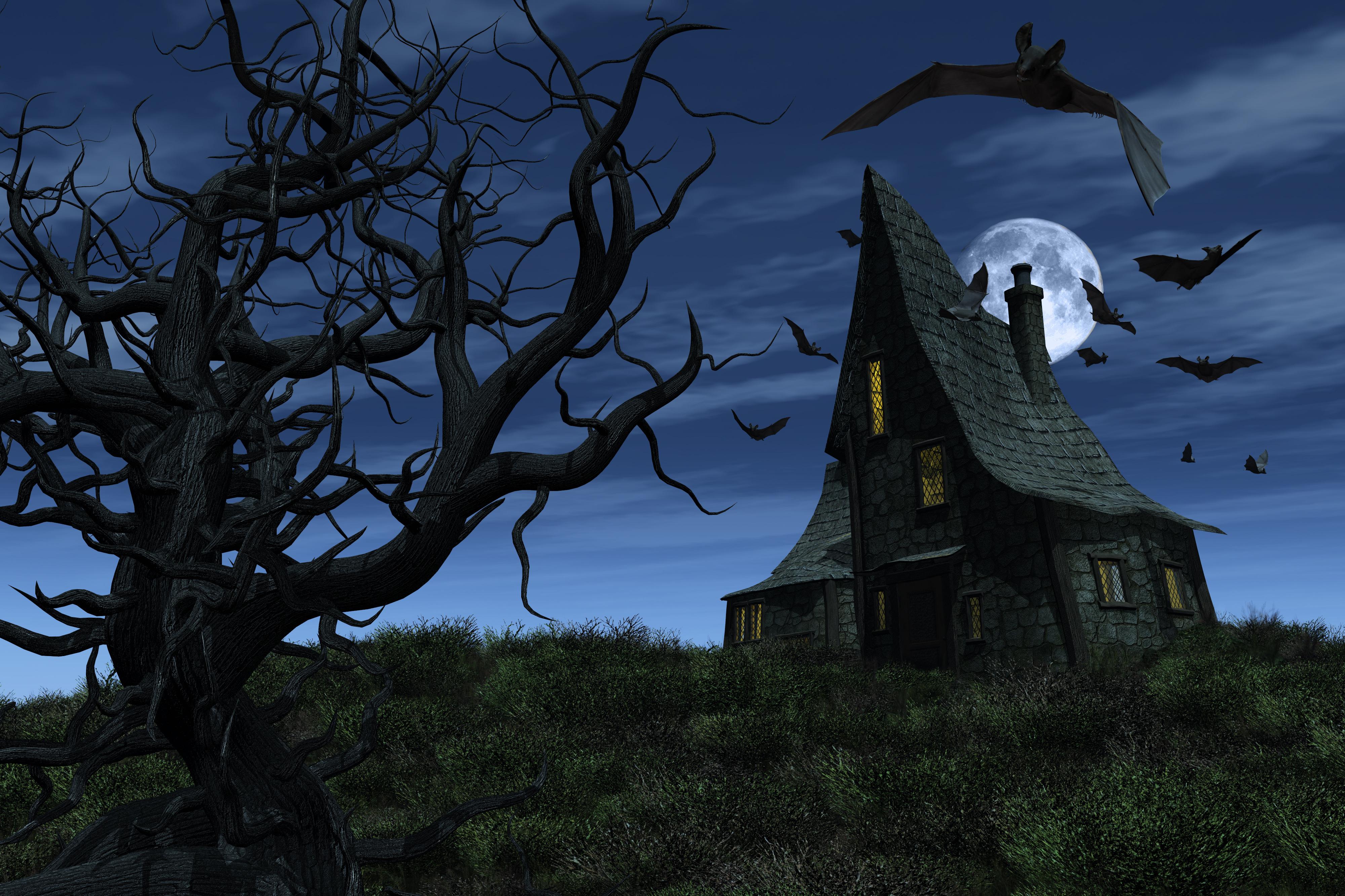 Halloween Haunted House 4k Ultra HD Wallpaper   Background ...