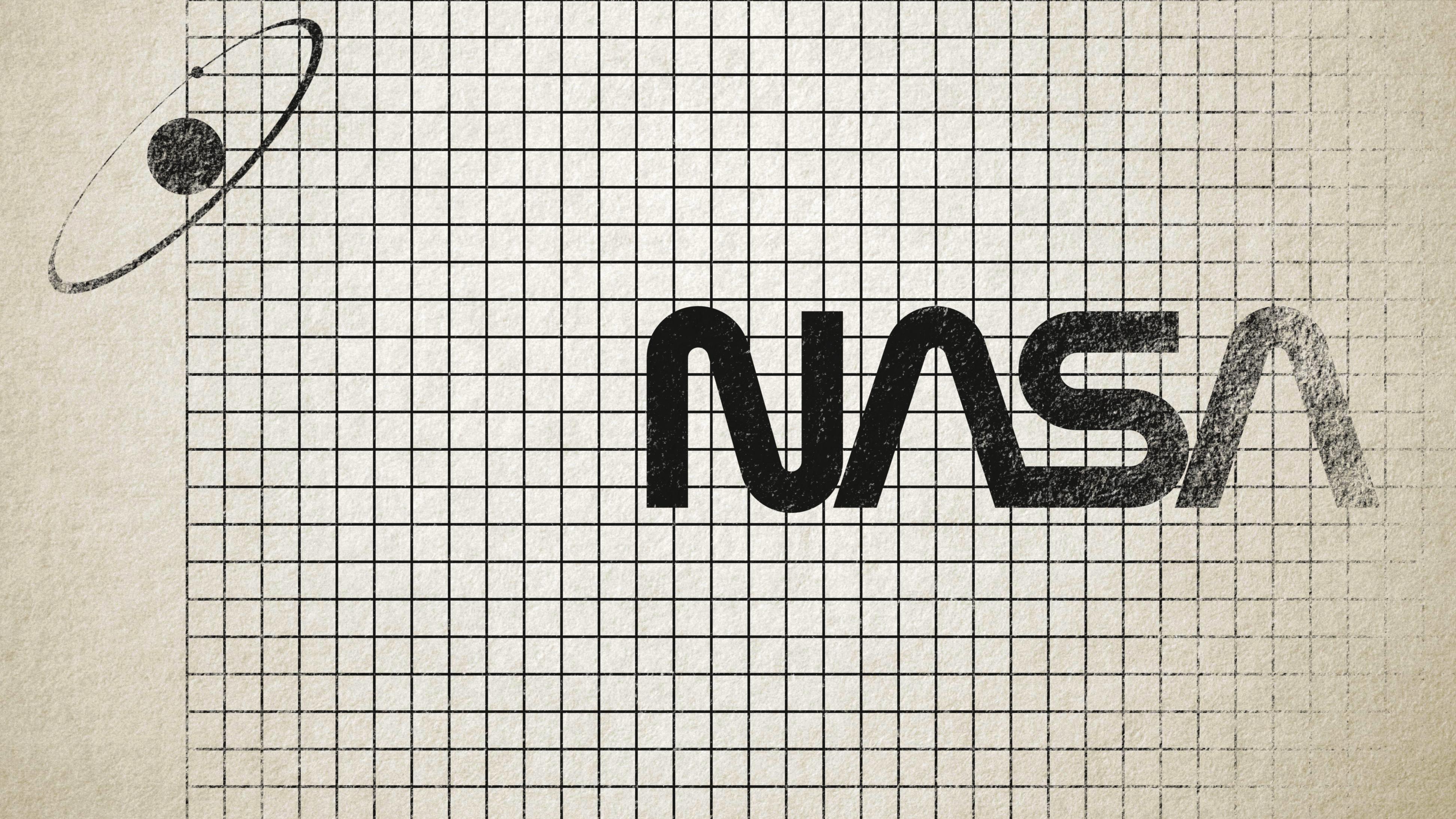 Nasa Worm Logo Grid 4k Ultra Fondo De Pantalla Hd Fondo De