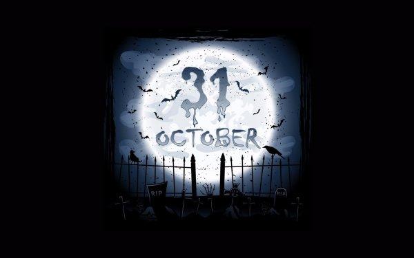 Holiday Halloween Calendar HD Wallpaper | Background Image