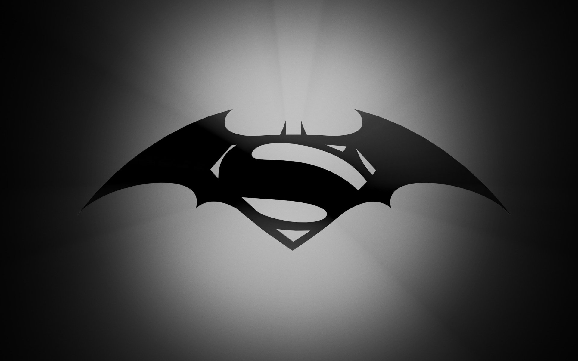 Movie - Batman v Superman: Dawn of Justice  Logo Batman Logo Superman Logo Wallpaper