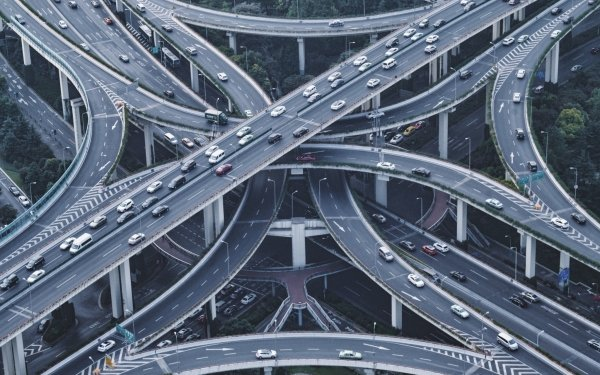 Man Made Highway Road Shanghai China HD Wallpaper | Background Image