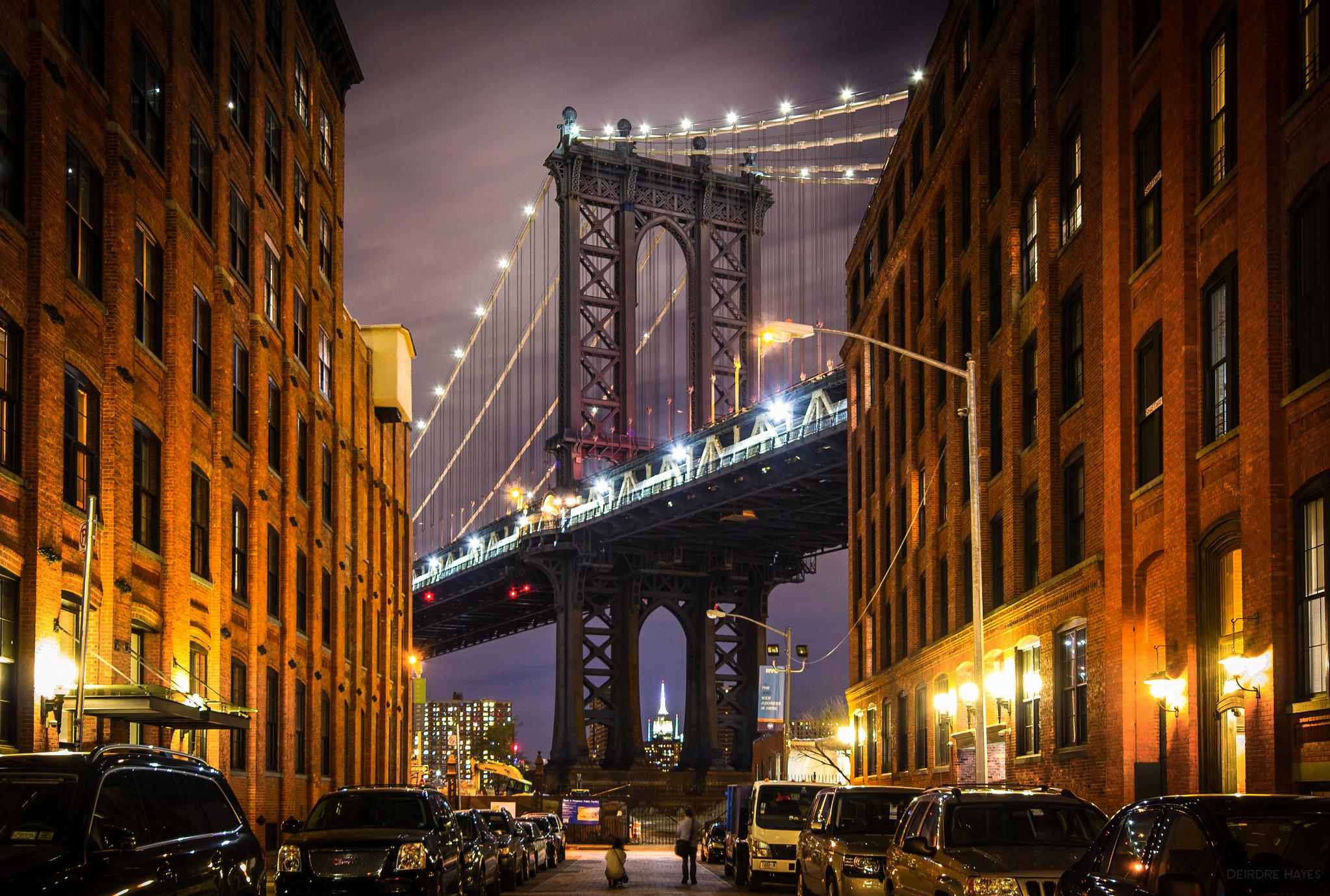 building wallpaper bridge: Manhattan Bridge HD Wallpaper