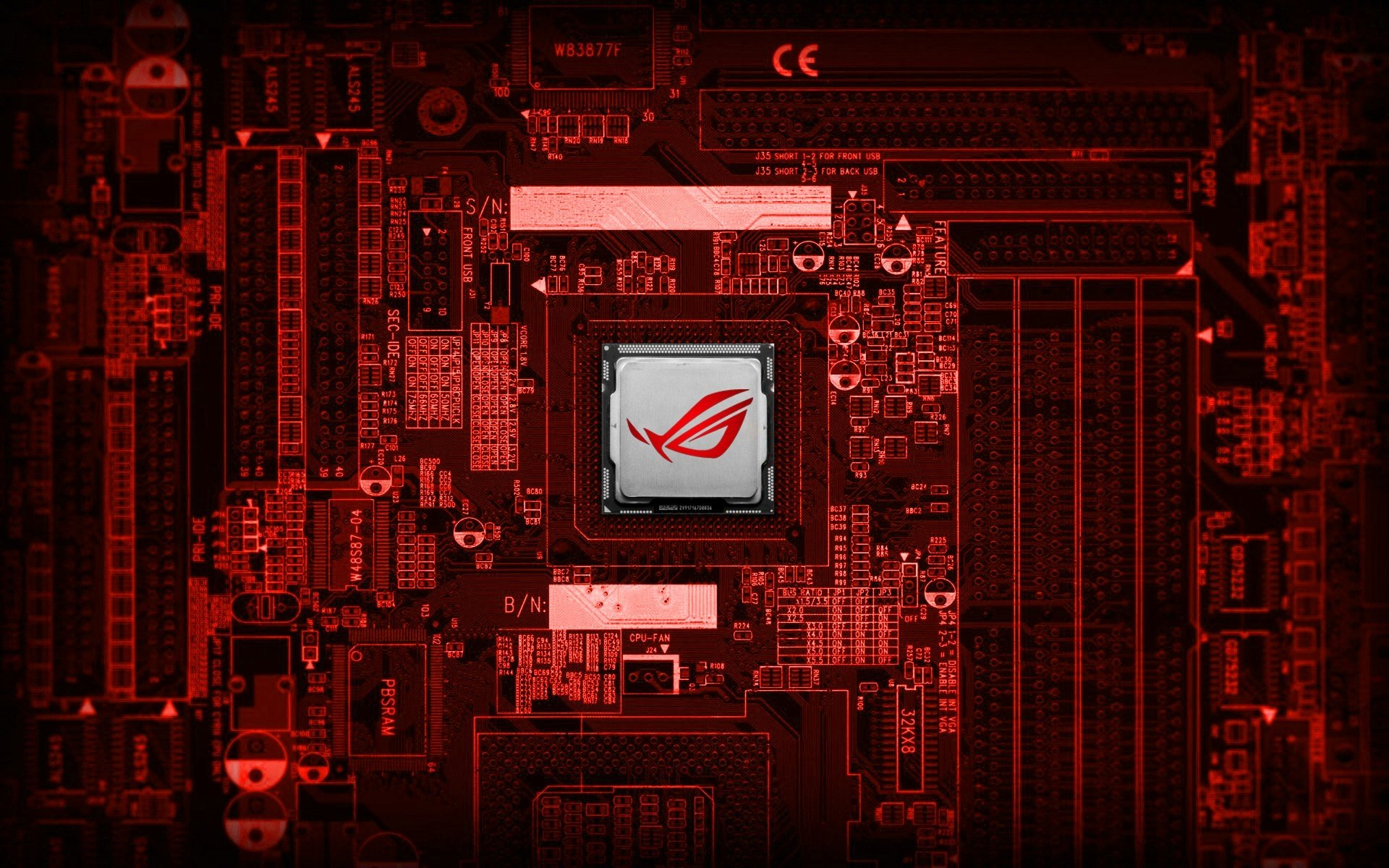 asus red tecnology wallpaper - photo #7