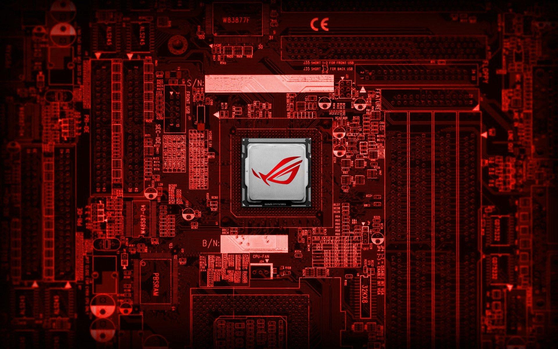 asus red tecnology wallpaper - photo #7
