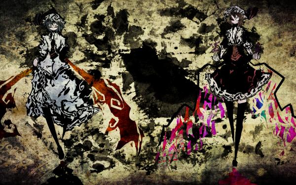 Anime Touhou Remilia Scarlet Flandre Scarlet HD Wallpaper   Background Image