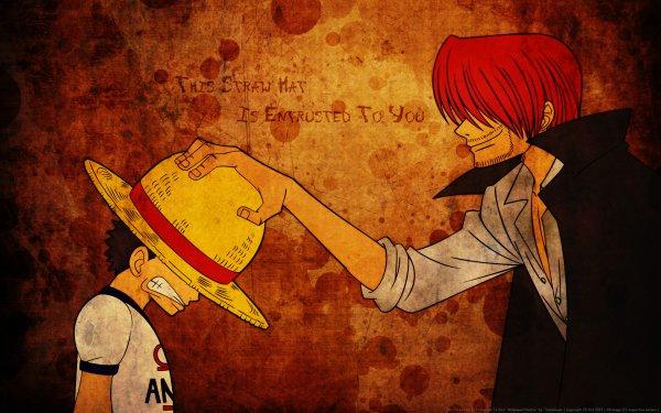 Anime One Piece Monkey D. Luffy Shanks Fondo de pantalla HD | Fondo de Escritorio