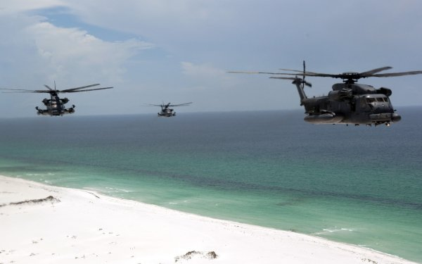 Military Sikorsky MH-53 Military Helicopters HD Wallpaper | Background Image