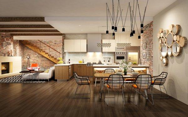 Man Made Room Kitchen Furniture HD Wallpaper | Background Image