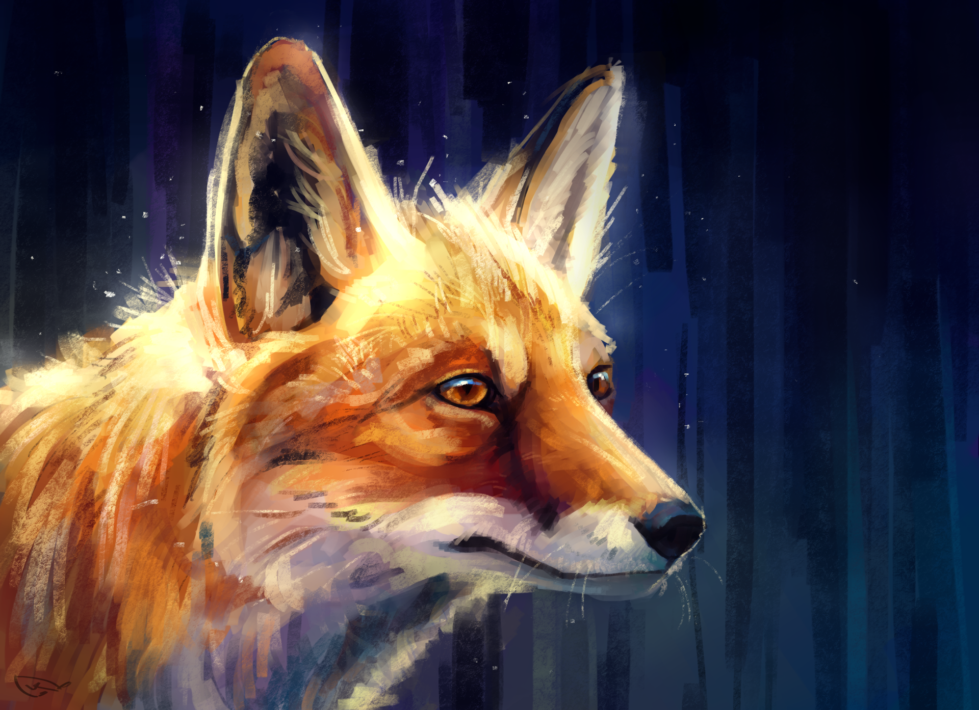 Animal - Fox  Wildlife Artistic Wallpaper