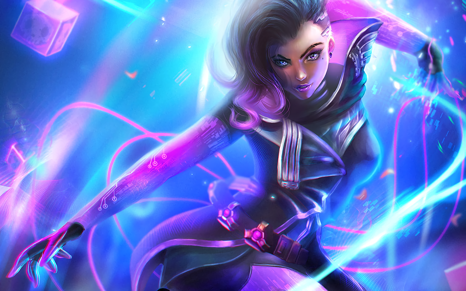 78 sombra (overwatch) hd wallpapers | background images - wallpaper