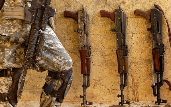 Weapons Akm Assault Rifle AK-47 HD Wallpaper   Background Image
