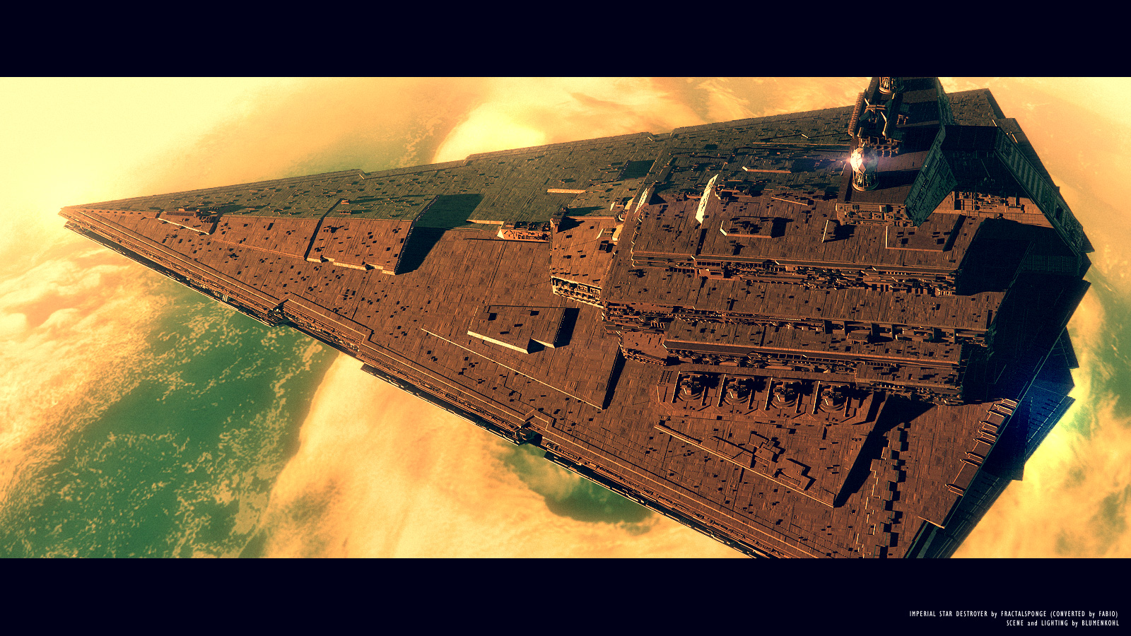 Science-Fiction - Star Wars  - Star Destroyer Hintergrundbild