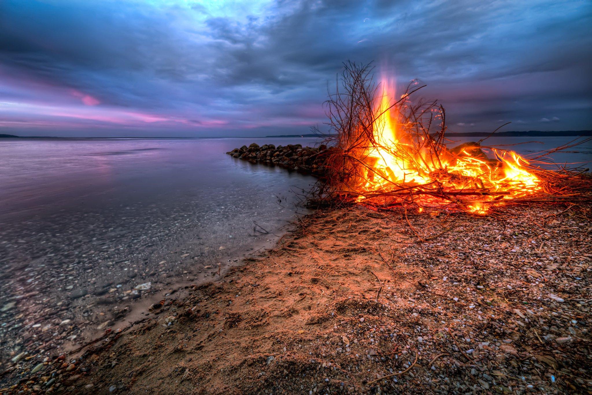 Спокойствие умиротворение огонь костер  № 3560284 без смс