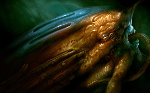 Dark Creepy Underwater Creature Sea Monster HD Wallpaper   Background Image
